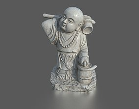 3D model Asian Monk statue