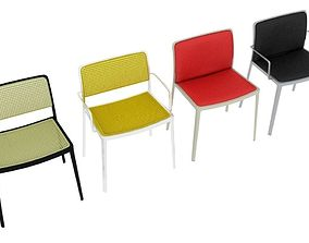 3D model Kartell Audrey Chairs Collection