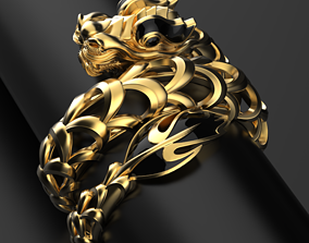Naga Dragon ring 3D print model