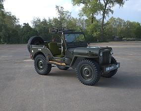 Gun Runner 1950 Willys M38 Jeep 3D model