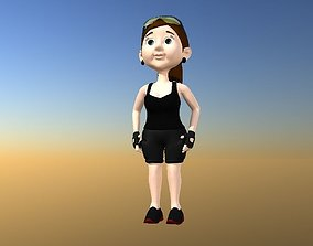 3D model Lara Croft pretty