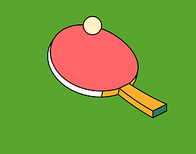 3D model Ping Pong Cartoon Style Animation