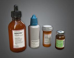 3D asset Medical Pill Bottles HPL - PBR Game Ready