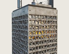 Building Skyscraper City Town Downtown 3D asset 3
