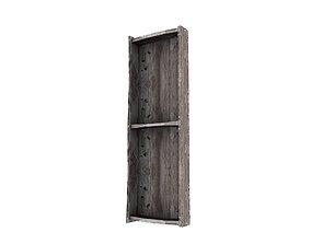 3D asset Wooden Bookshelf 03