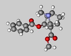 3D Cocaine molecule