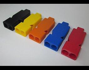 3D printable model Emergency Whistle - DOUBLE