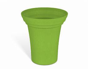 3D Green Flower Pot soil