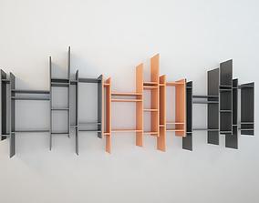 Bookcase modern design MDF Randomito 3D model