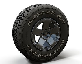 Offroad Wrangler wheel 3D model