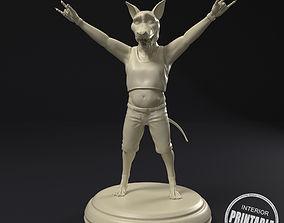 Rock dog 3D printable model