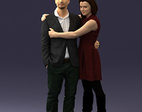 character Young couple 0002 3D Print Ready