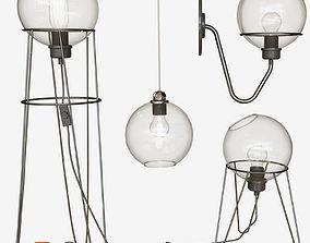 shine 3D model sphere lamp