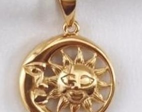 moon and sun necklace 3D printable model
