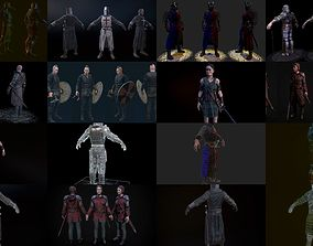 Medieval characters pack 3D