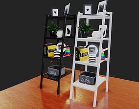3D model Ladder Bookshelf