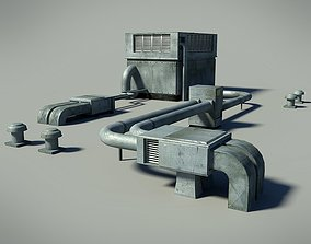 Roof Unit 3D model realtime