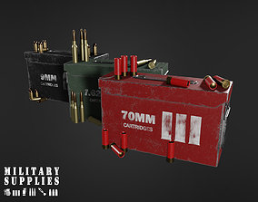 Military Supplies Pack - Cartridges Box 3D asset