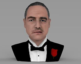 Marlon Brando Godfather bust ready for full color 3D 1