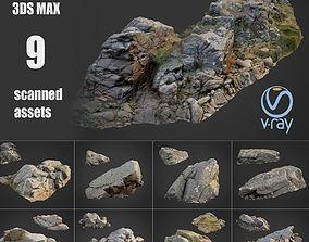 3D asset Cliff landscape pack bundle