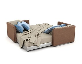 3D model Brown Combined Bed And Sofa