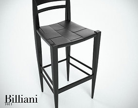 3D Billiani Vincent VG stool 444 black
