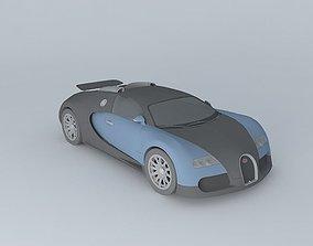 Bugatti Veyron 3D model imported