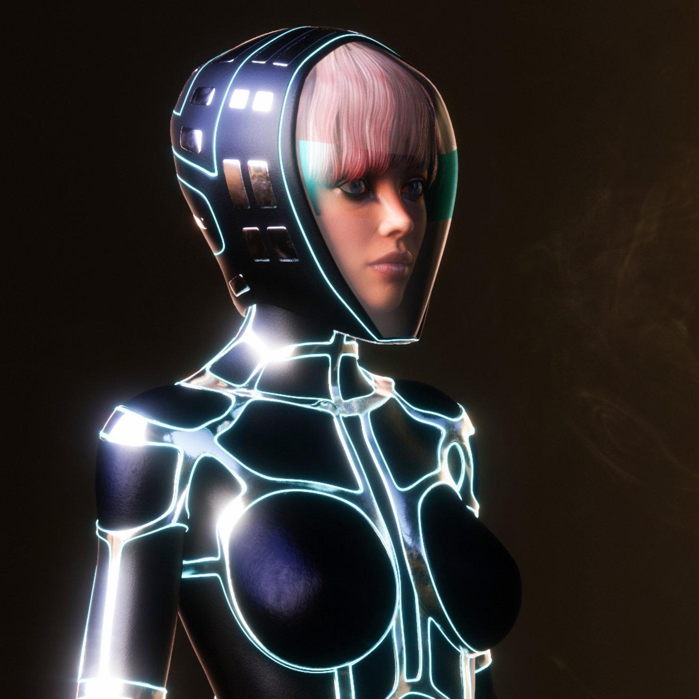 Sci-fi Space Suit Concept