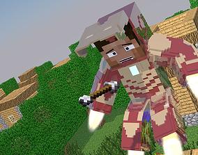 3D model Iron Man - MineCraft
