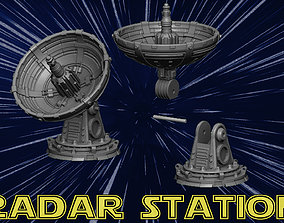 3D print model radar station empire