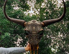Bull skull boll 3D printable model