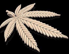 Cannabis Leaf Symbol Marijuana pendant 3D print model 2