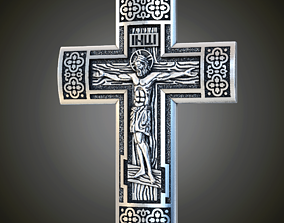 Cross with crucifixion 3D print model