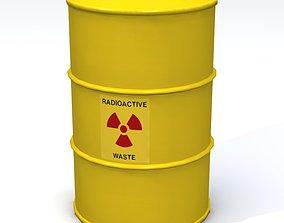 3D model Radioactive 55 Gallon Drum