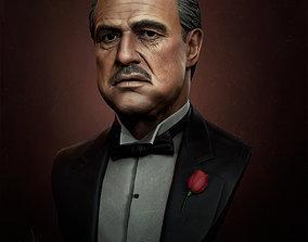 3D printable model Godfather Marlon Brando