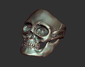 rocker Skull ring 3D printable model