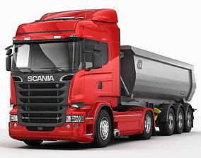 3D model Scania R Tipper Trailer