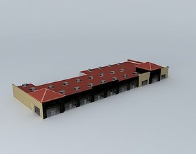 Strip Mall 3D model outlet
