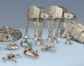 Ultimate Game Ready Star Wars Vehicles Collection 3D asset