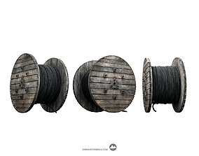 Cable reel electricity 3D model