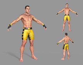 UFC Boxer 3D asset