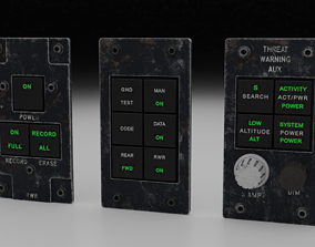 3D F16 Threat Warning Auxiliary Panel