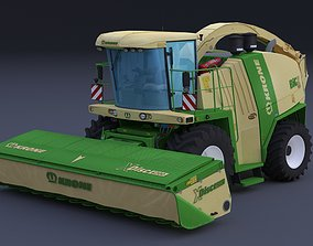 Krone Big X 1100 and krone XDisc 6200 3D model