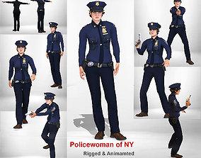 Policewoman of NY 3D model