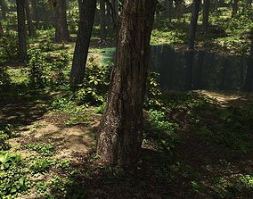 3D Conifer forest in Vue
