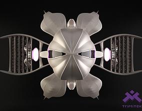 Alien Mothership with Fighters 3D model battle