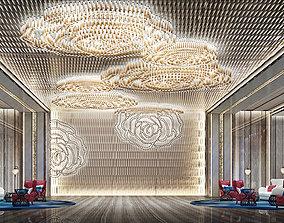 3D Hotel lobby house