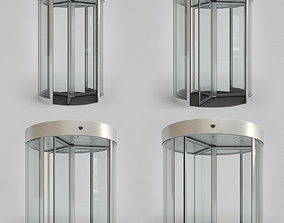 Revolving Door Set 3D model
