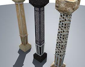 lowpoly column 01 3D asset