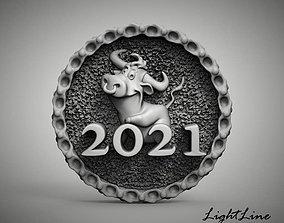 bull new year gift 3D